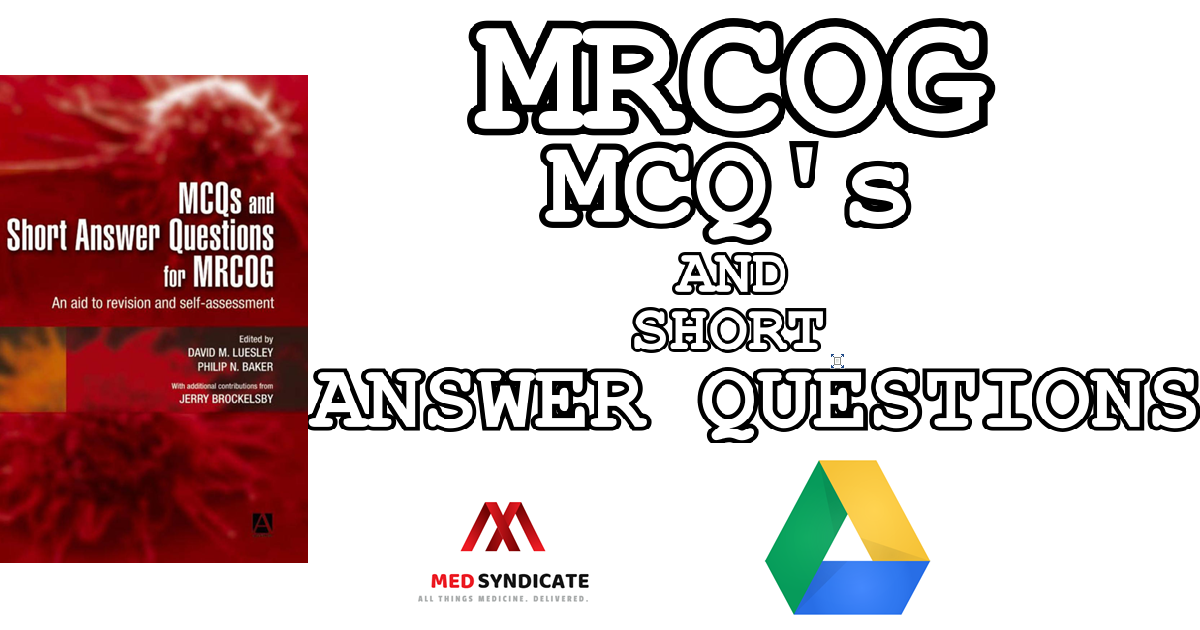 MCQs & Short Answer Questions for MRCOG - PDF Download