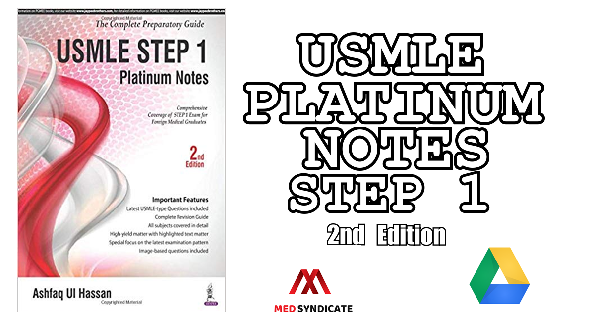 USMLE Platinum Notes Step 1 (2nd Edition) PDF Free Download