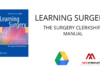 The Surgery Clerkship Manual Latest Edition Free PDF Download
